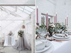 Soft Pink & Grey Wedding Inspiration Shoot From One Stylish Day