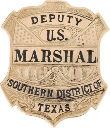 Western Expansion:Cowboy, Gold Texas Deputy Marshal Badge.... (Total: 1 Items)