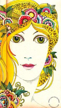 SWEET JANE: Win A Buck A Breck - Illustration by John Alcorn 1970