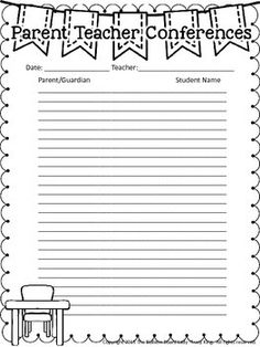 Freebie! Great sign-in sheet to use at parent/teacher conferences ...