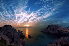 Sunset in The Sea HD wallpaper download Ulsan, Sunrise Landscape, Landscape Walls, Landscape Photos, Free Pictures, Free Images, Cool Pictures, Visualisation, Blue Heron