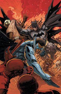 Batman and Batwing by Ken Lashley
