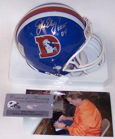John Elway Autographed Hand Signed Denver Broncos Throwback Mini Helmet -  PSA DNA. John 43012e3c0