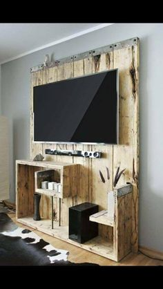 palet televizyon ünitesi fikri