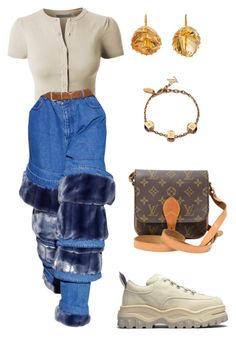 """""""Untitled #2292"""" by lucyshenton ❤ liked on Polyvore featuring LE3NO, Eytys, Renee Lewis and Louis Vuitton"""