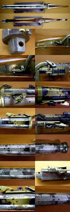 火縄短中筒 榎並屋宗右衛門 花押 鉄筒 銀、真鍮象嵌 Antique Gun Hinawatantyuzutu [Souemon] Type: match…
