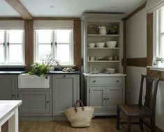 full oak frame cottage kitchen