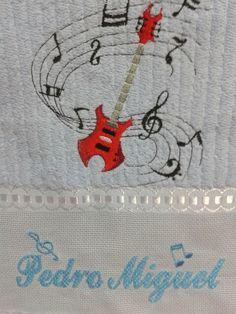 Toalha lavabo-  Tema Instrumento Musical