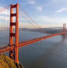 Golden Gate Bridge. I have walked the length and back of this amazing bridge, with a really nice woman.