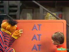 """▶ Classic Sesame Street - The """"AT"""" family  (reading and pronouncing the short A sound: fat, rat, mat, etc.)"""