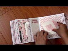 ▶ Kaisercraft Baby Girl Mini Album: PitterPatter, Bundle of Joy - YouTube