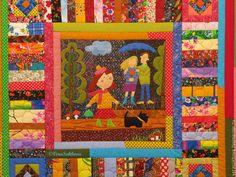 Купить Лоскутное покрывало и наволочки комплект Приятная прогулка - лоскутное шитье, лоскутное одеяло