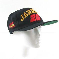 Dale Jarrett  28 Texaco Havoline NASCAR Racing Adjustable Red Black Hat Cap   6fbc37de31c5