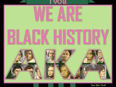 Yes, We Are!! #1908# Aka Sorority, Alpha Kappa Alpha Sorority, Zeta Phi Beta, Sorority Life, Happy Founders Day, Aka Founders, Alpha Female, African American History, Fraternity