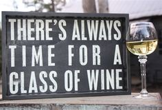 Always Time for a Glass of Wine Tray.