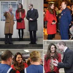 Pregnant Kate Middleton With Prince William and Charles  April 5, 2013