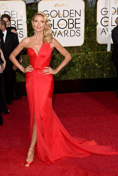 Red Carpet Review: Golden Globes Luxe Awards | Heidi Klum in Versace | The Luxe Lookbook
