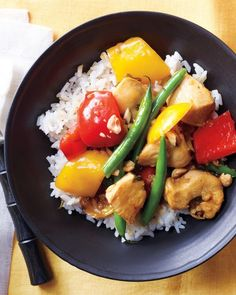 Sweet-and-Sour Chicken with Green Beans - all the appeal of the original, with a fraction of the fat and calories.