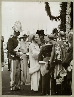 Arrival in Copenhagen - Wedding - Frederik IX Ingrid - 1935 Denmark Royal Family, Danish Royal Family, Royal Weddings, Vintage Weddings, Christian Ix, Adele, Danish Royalty, Princess Alexandra, Casa Real