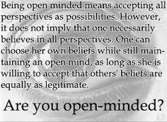 Open-mindedness - Eye and words