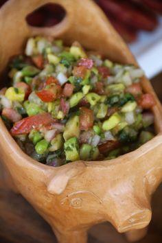 Receta paso a paso de pebre de guacamole chileno. Cherrytomate