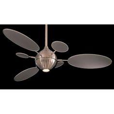 Cirque Silver 54 Inch Ceiling Fan Minka Aire Stem Mounted Fan Ceiling Fans Ceiling Lightin