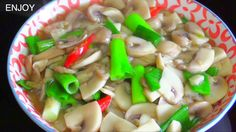Mushrooms and Oyster Sauce Stir Fry  : Thai Recipes : เห็ดผัดน้ำมันหอย