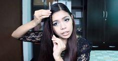 Straw Curls Hack-No Heat Spiral Curls Using Drinking Straw