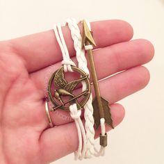 White Jay and Arrow Stack Bracelet