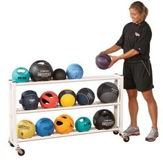 Medicine Ball Rack with Wheels