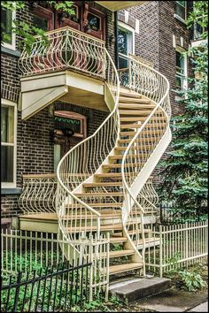 Make sure you visit our world-wide-web site for lots more in regard to this astonishing photo Staircase Railings, Staircase Design, Stairways, Spiral Staircases, Beautiful Architecture, Architecture Design, Montreal Architecture, Modern Mediterranean Homes, Exterior Stairs