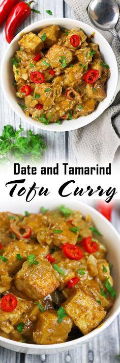 Easy Vegan Date Tamarind Tofu Curry.