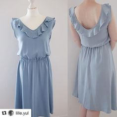 So lovely this pastel #charidress made by @ lille.yul 💕👗Perfect for this sunny friday evening 🍸 # schnittchenpatterns #cousumain #sewing #sewingpatterns #Repost @ lille.yul (@get_repost) · · · Seen - love - bestellt- sewn - the Kleid Chari of @schnittchenpatterns.  For a long time I did not like a cut like this.  _____________________________________________ # sew #schnittchenpatterns #stoffstil #stoffundstil #dressmaker #sew #memade #charidress # # nähenfetzt dresses sew #memadewardrobe…