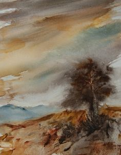 Lone Pine by Jean Lurssen, Painting - Watercolor | Zatista