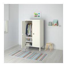 BUSUNGE Kleiderschrank, weiß - weiß - IKEA