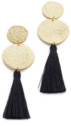 statement  Stud Earrings black and gold