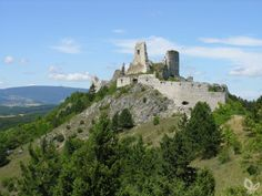 The ruins of Csejte Castle, Slovakia, where the infamous Countess Elizabeth Bathory spent her final days.