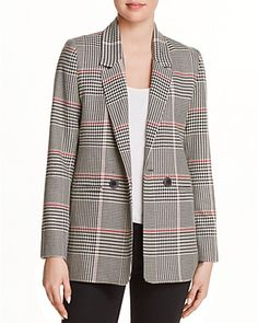Anine Bing Madeline Houndstooth Blazer Women - Shop All - Bloomingdale's Fall Fashion Trends, Autumn Fashion, Fashion Ideas, Black Women Fashion, Fashion Edgy, Fashion Hats, Ladies Fashion, Womens Fashion, Fashion Outfits