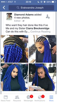 The blue crochet Marley twists are so cute This is exactly how I wanted my hair maybe my mom could do it for me