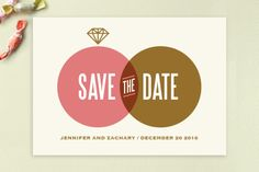 The One Ring Save the Date Cards by Monica Tuazon at minted.com