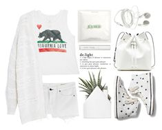 """""""All White"""" by pisces7 ❤ liked on Polyvore featuring Sole Society, La Mer, Billabong, rag & bone, Keds, Bobbi Brown Cosmetics, Violeta by Mango, women's clothing, women and female"""