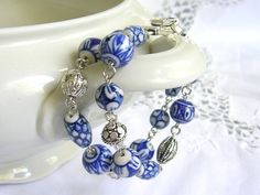 delft blue bracelet delft blue jewelry Delft Holland by minouc, €23.50