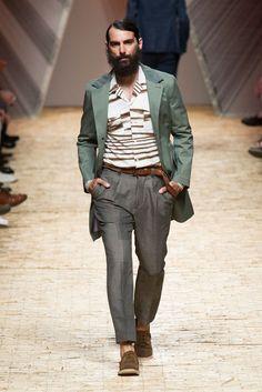 Forget Dapper... Get casual. Missoni Menswear spring 2014