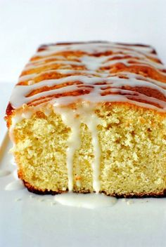 Lemon cake loaf is just the thing to go with that cup of coffee in your hand.