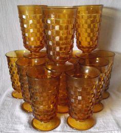 Whitehall Footed Tumblers Indiana Colony Vintage @iloveoldstuff #glassware #vintage