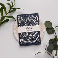 Botanical Navy Blue Wedding Invitations Laser Cut – The Best Ideas Acrylic Wedding Invitations, Laser Cut Wedding Invitations, Wedding Invitation Cards, Wedding Stationery, Business Invitation, Vintage Wedding Photos, Vintage Weddings, Lace Weddings, Wedding Card Writing