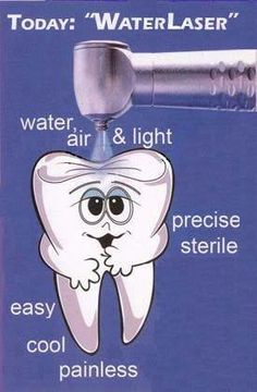 Lasers are increasingly being used in dentistry for various procedures. These are used in Root Canal Treatment, Sterlization in Endodontics, Apeiceotomy, Periodontics. Dental Health, Oral Health, Dental Care, Cosmetic Dentistry Procedures, Dental Procedures, Laser Dentistry, Dental Humor, Dental Hygienist, Restorative Dentistry