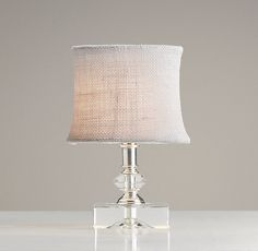Mini Bella Lamp With Shademini bella lamp with shade $69   Special $55   Brilliantly sized for use as a nightlight, Bella's miniature candlestick shape is dressed up in polished silver and precision-cut crystals for a delicate balance of shimmer and translucence. rh