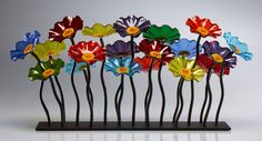 Prism-Colored Garden Centerpiece by Scott Johnson and Shawn Johnson (Art Glass Sculpture) | Artful Home