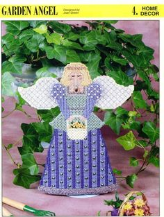 Annies Attic Garden Angel Plastic Canvas Pattern